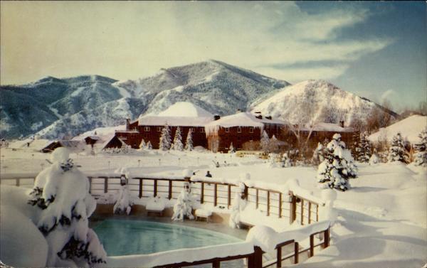 Winter Swimming Pool And Lodge Sun Valley Id