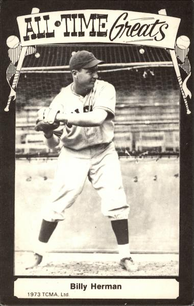 All-time Greats - Billy Herman Baseball