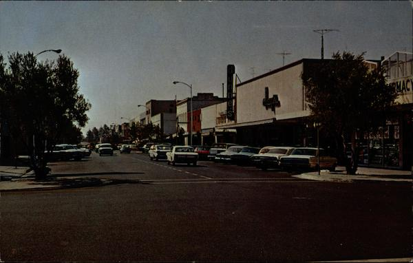 Cars and Commerce Downtown Marysville California