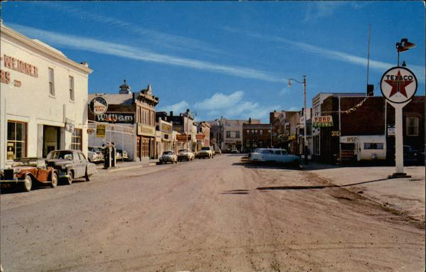 A view of 50th Street looking South Lacombe AB Canada