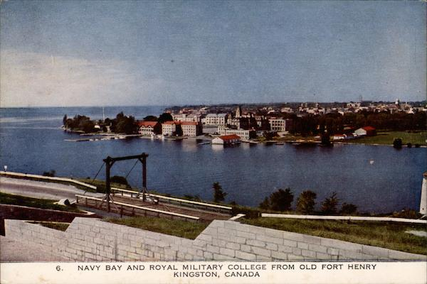 Navy Bay and Royal Military College from Old Fort Henry Kingston Canada