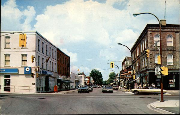 Front Street, Business District Campbellford Canada