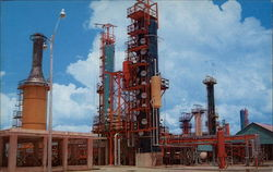 A portion of the Ultra Modern Refinery operated by Petroleos Mexicanos Postcard