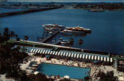 Palm Beach Biltmore Hotel Pool and Yacht Basin Postcard