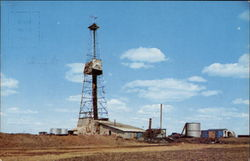 One of the many oil wells located in the Northwestern part of North Dakota