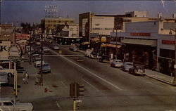 Downtown Tulare Postcard