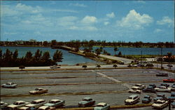 View of Lake Worth Postcard