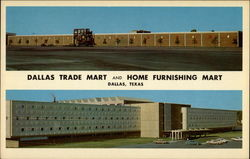 Dallas Trade Mart and Home Furnishing Mart Postcard