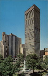 Dominion square Park, Sheraton Laurentien Hotel, and the Imperial Bank of Commerce Building