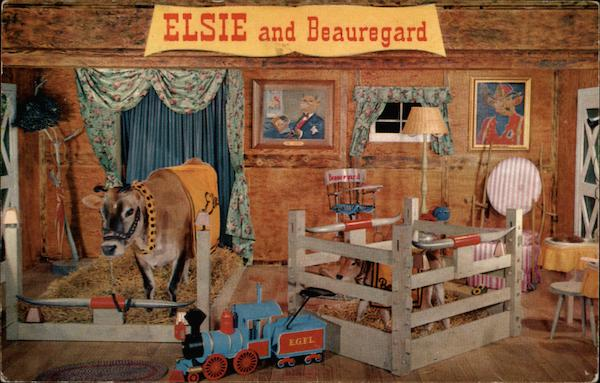 Elsie and Beauregard in Person - Borden Co Advertising