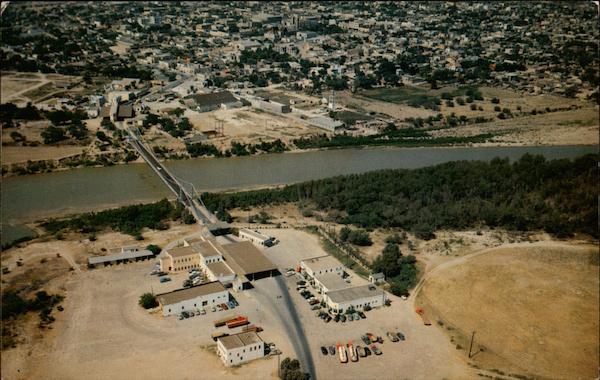 McAllen-Hidalgo-Reynosa Bridge Crossing the Rio Grande River Mexico