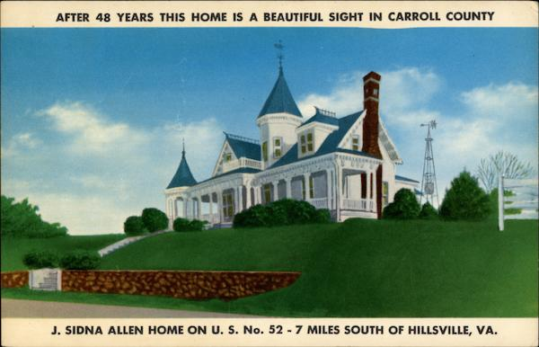 J. Sidna Allen's home Hillsville Virginia