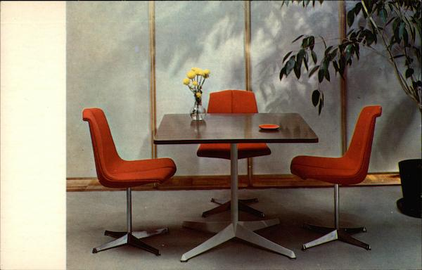 Knoll Card/dining table and stacking chair Advertising