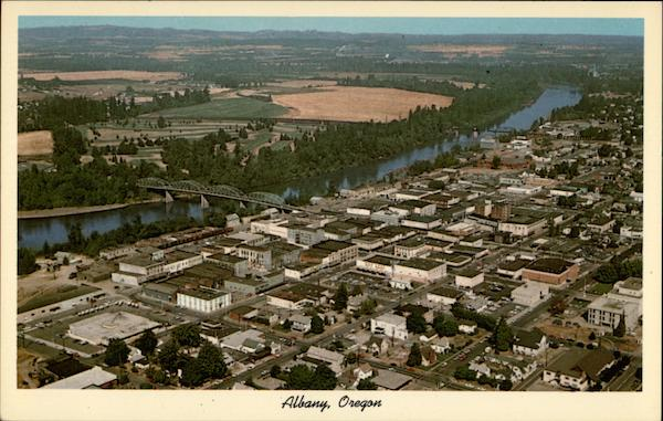 City Of Albany >> Aerial View of Albany, Oregon
