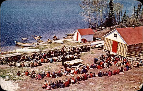 Indian feast time at a Hudson's Bay Company trading post Dryden Canada