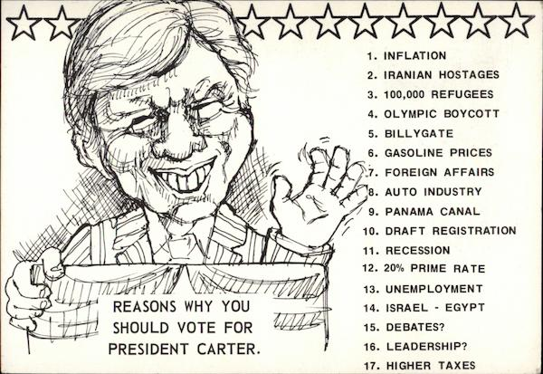 Reasons Why You Should Vote For President Carter Jimmy Carter