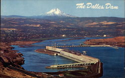 the Dalles DAm Postcard