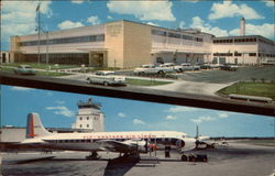 Post Office and Airport Postcard
