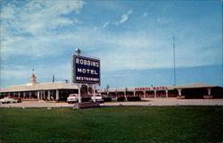 Robbins Motel and Restaurant Postcard