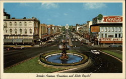 Dexter Avenue, Looking East, Showing Fountain and State Capitol