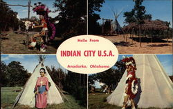 Hello From Indian City U. S. A Postcard