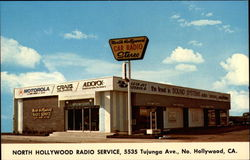 North Hollywood Car Radio Service Postcard
