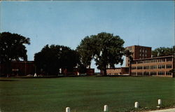 The Luther College Campus Showing Main Building, Laur Lorsen and Loyalty Halls Postcard