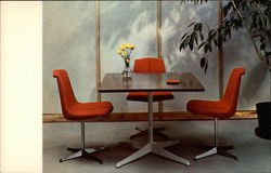 Knoll Card/dining table and stacking chair