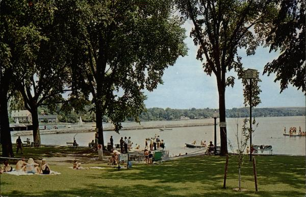 Bathers at Clift Park Skaneateles New York