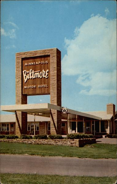 Minneapolis Biltmore Motor Hotel Minnesota