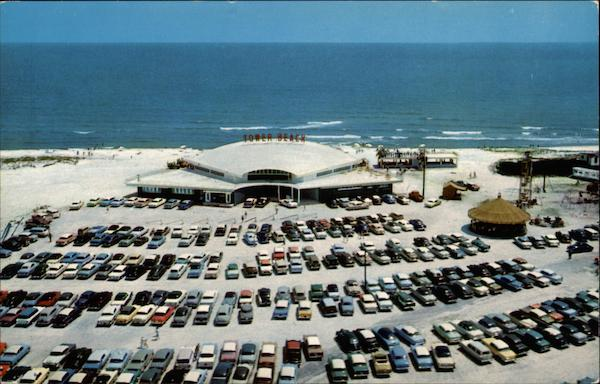 Aerial View of Tower Beach Casino on 'The Miracle Strip' Fort Walton Beach Florida