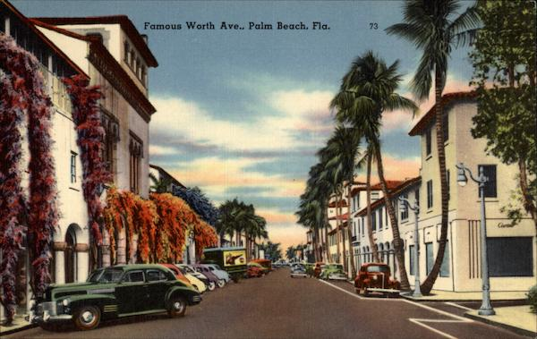Famous Worth Ave Palm Beach Florida
