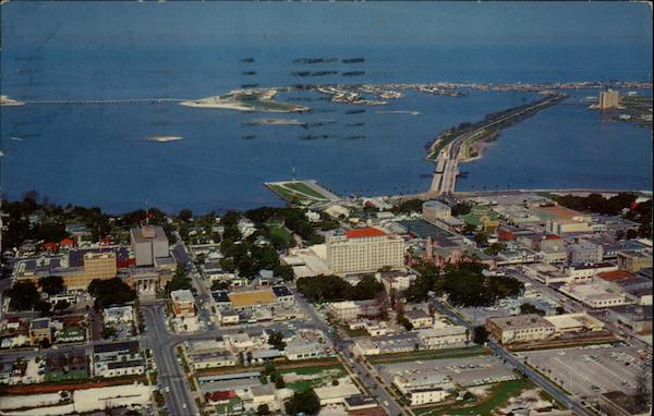 Air view of downtown Clearwater Florida