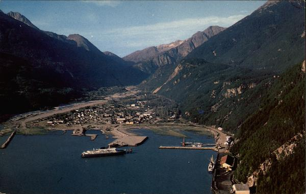Aerial View of Skagway Alaska