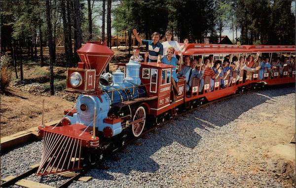One of two miniature trains at Heritage USA Amusement Parks