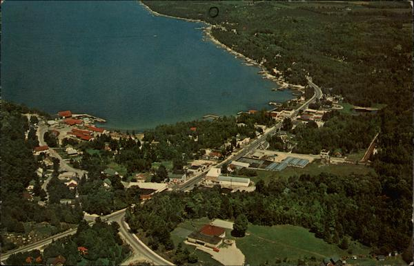 Aerial View Sister Bay Wisconsin