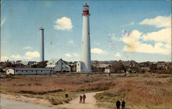 Famous lighthouse at Cape May Point New Jersey
