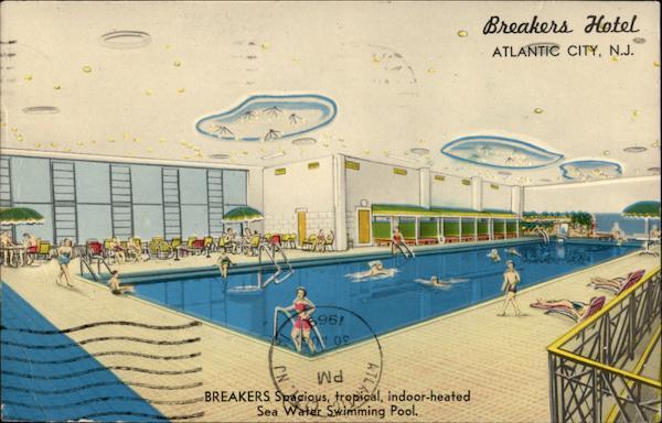 Breakers Spacious Tropical Indoor Heated Sea Water Swimming Pool Atlantic City Nj