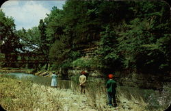 Fishing Scene in Apple River Canyon State Park