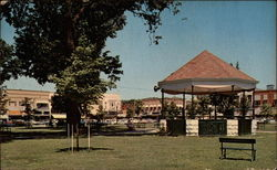 Public Square and Band Stand Postcard