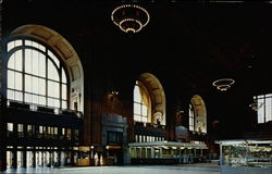 Interior of Union Station Postcard