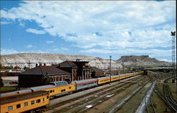 Union Pacific Streamliner stopping in Green River enroute across Wyoming