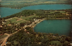 Ariel view of Lake Darling and Le Homme Dieu