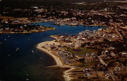 Aerial View Hyannis Harbor, Cape Cod