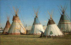 Blackfeet Teepees at Indian encampment