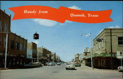 Howdy from Quanah, Texas Postcard