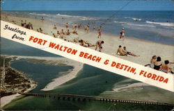 Greetings from Fort Walton Beach & Destin, Florida Postcard