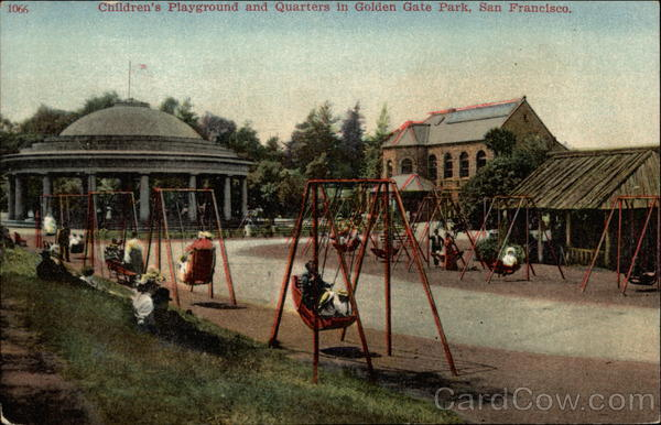 Children's Playground and Quarters in Golden Gate Park San Francisco California