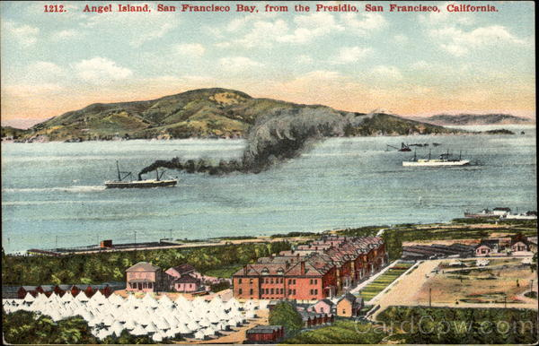 Angel Island, San Francisco Bay, from the Presidio California