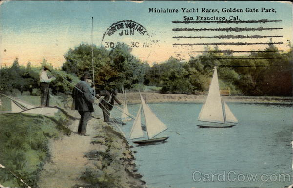 Miniature Yacht Races in Golden Gate Park San Francisco California